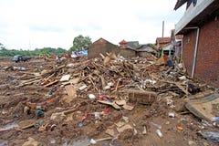 Inundación repentina del desastre de Indonesia - Garut 053 Fotos de archivo