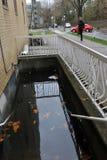 Inundación seria en los edificios Foto de archivo libre de regalías