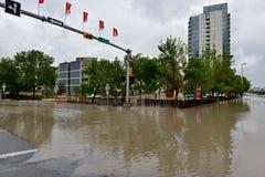 Inundación 2013 de Calgary Foto de archivo libre de regalías
