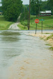 Inundación de Indiana Imagen de archivo