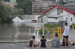 Inundaciones 5 de Brisbane Fotos de archivo libres de regalías