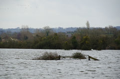 2014 inundaciones BRITÁNICAS Burrowbridge Fotos de archivo