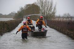2014 inundaciones BRITÁNICAS Muchelney Fotografía de archivo libre de regalías