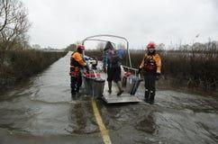 2014 inundaciones BRITÁNICAS Muchelney Imagen de archivo libre de regalías