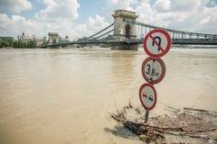 Inundaciones de Budapest Imágenes de archivo libres de regalías