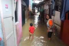 Inundaciones de Jakarta Fotos de archivo