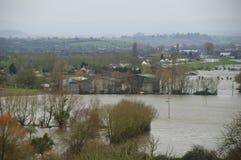 Inundaciones de Reino Unido 2014 Fotos de archivo