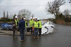 Inundaciones de Reino Unido 2014 Foto de archivo