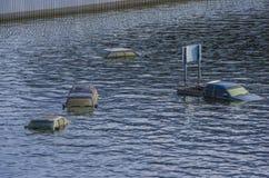 Inundaciones 2011 de Tailandia Imagen de archivo libre de regalías
