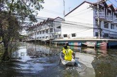 Inundaciones 2011 de Tailandia Foto de archivo libre de regalías
