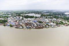 Inundaciones de Tailandia Foto de archivo libre de regalías