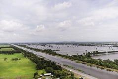 Inundaciones de Tailandia Imágenes de archivo libres de regalías