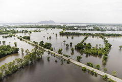 Inundaciones de Tailandia Imagen de archivo libre de regalías