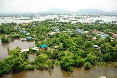 Inundaciones de Tailandia Fotos de archivo libres de regalías