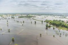 Inundaciones de Tailandia, desastre natural Imagenes de archivo