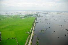 Inundaciones de Tailandia, desastre natural, Foto de archivo