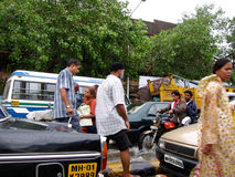Inundaciones en la India imagen de archivo libre de regalías