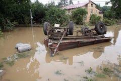 Inundaciones en República Checa Foto de archivo libre de regalías