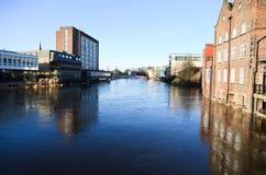 Inundaciones en York foto de archivo