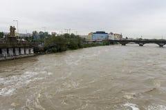 Inundaciones Praga 2013 Imágenes de archivo libres de regalías
