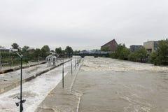 Inundaciones Praga 2013 Imagen de archivo libre de regalías