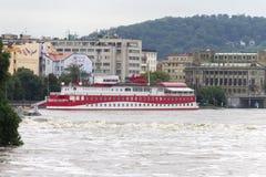 Inundaciones Praga junio de 2013 Imagen de archivo libre de regalías