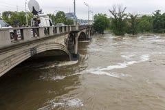 Inundaciones Praga junio de 2013 Imágenes de archivo libres de regalías