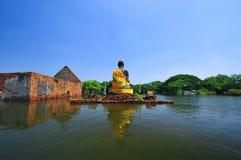 Inundando en Ayutthaya, Tailandia. Imágenes de archivo libres de regalías