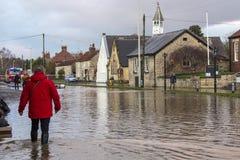 Inundando - Yorkshire - Inglaterra Imagens de Stock