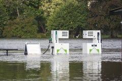 Inundação do rio Fotografia de Stock