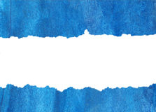 Inundation of blue water-colour on a white. Inundation of blue water-colour on a white background. Background for text Stock Image