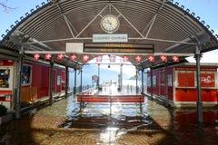 The inundation of lake Lugano Stock Images