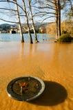 The inundation of lake Lugano Stock Image