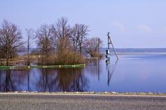 Inunde en Belarus cerca de Mogilev. Foto de archivo libre de regalías