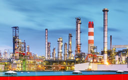 Inustry - Oil Refinery, Petrochemical plant Royalty Free Stock Images