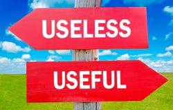 Inutile ed utile immagini stock
