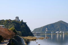 Inuyama 1. Inuyama castle at the bank of Kiso River in the morning in Aichi Perfecture, Japan Stock Images