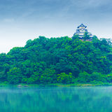 Inuyama Castle High Kiso River Distant Copy Space Stock Images