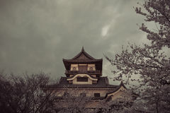 Inuyama castle historic building landmark in spring with beautif Royalty Free Stock Photography