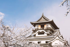 Inuyama Castle in Japan Stock Photo