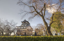 Inuyama castle, Japan. Tourist in front of Inuyama castle, Japan Stock Photography