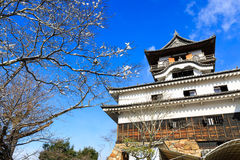 Inuyama Castle in Japan. Inuyama Castle in winter, Inuyama, Aichi Prefecture, Japan Royalty Free Stock Photo
