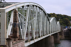 Inuyama railway bridge Royalty Free Stock Photo