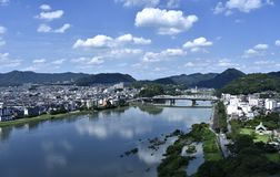 Inuyama-shi. Inuyama is a city located in Aichi Prefecture, near Nagoya Royalty Free Stock Image