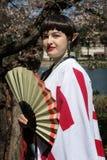 Inuyasha japansk shō nen manga Kagura förklädnad royaltyfri fotografi