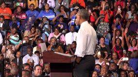 Invånare av det USA Barack Obama mötet med studenter av det Florida minnesmärkeuniversitetet arkivfilmer