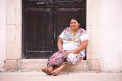 Invånare av Valladolid, Mexico Arkivfoto