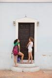 Invånare av Valladolid, Mexico Arkivbild