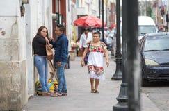Invånare av Valladolid, Mexico Arkivbilder