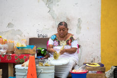 Invånare av Valladolid, Mexico Arkivfoton
